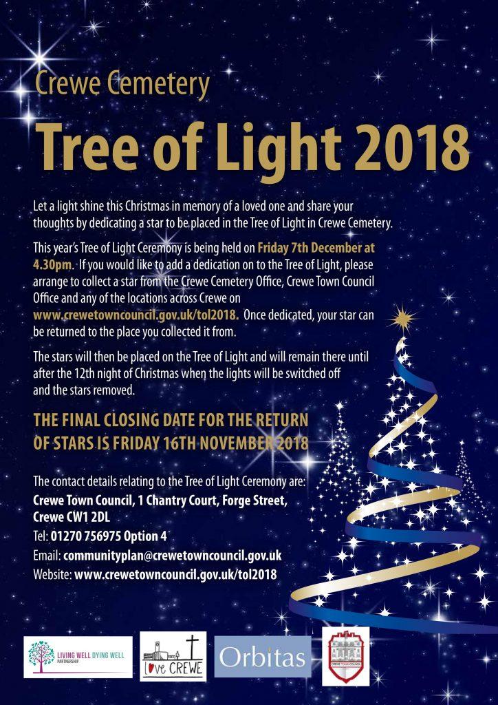 Crewe Tree of Light Ceremony