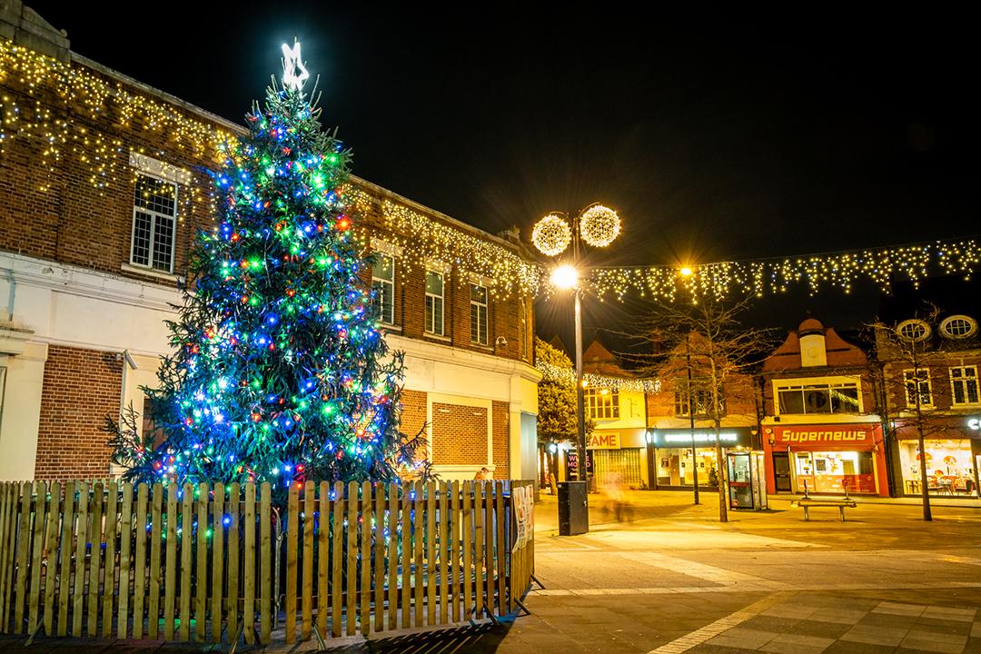 Crewe Xmas lights photo Pete Robinson 1