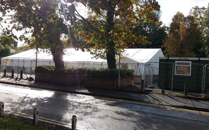 Dual use COVID-19 testing site in Crewe