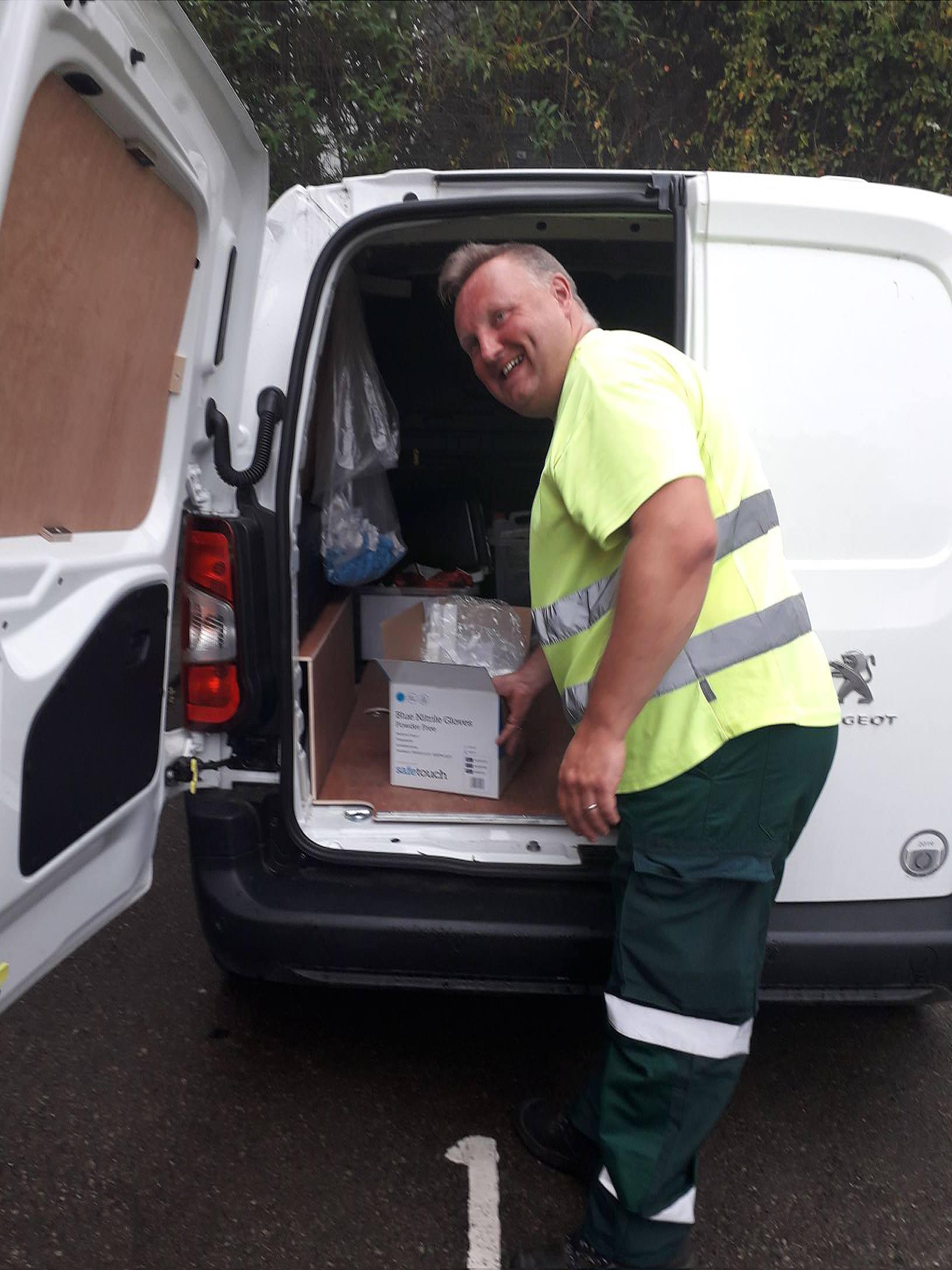 Crewe ranger delivering PPE