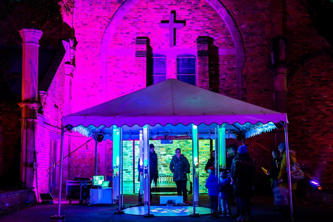 Lumen 2018 Peal installation in Christ Church